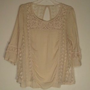 Tops - Crochet and Lace Decorative Blouse